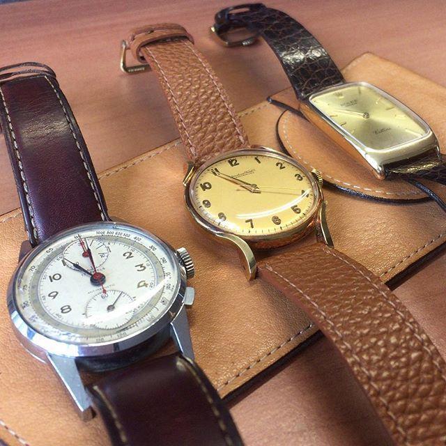 REPOST!!!  No brand chronograph (1950's) IWC Cal.60 (1940's) Rolex Cellini (1980's)  #vintage #vintagewatches  #chronograph #vintagechronograph  #iwc #iwcwatches #iwcwatch #iwcschaffhausen #international #watch #company #1944 #caliber #60 #vintage #vintagewatch #vintagewatches #antique#watchuseek #richemont  #luxurywatches #watchesofinstagram #hautehorlogerie #hautehorology #france #france🇫🇷 #Rolex #cellini  Photo Credit: Instagram ID @k.hillfield