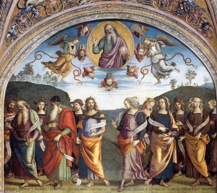 'Profeti e Sibille', affreschi di Pietro Vannucci (1446-1523, Italy)