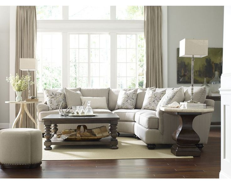 Portofino Sectional And Harlowe Finch Occasional Thomasville Portland Living Room Inspiration