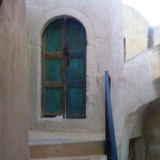 Door in Anafi island Greece. Last summer