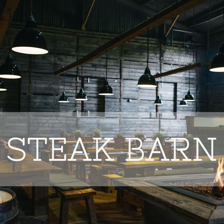 st andrews!  View our Steak Barn MenuAnd an example of our Weekly Specials The name says it all.This former sawmill clings to its rustic past with walls of potato boxes and