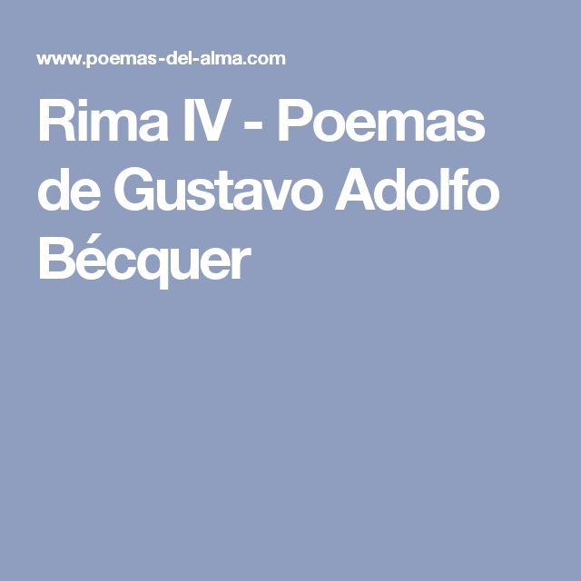 Rima IV - Poemas de Gustavo Adolfo Bécquer