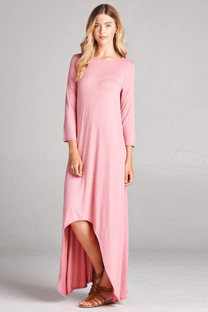 Hi-Low Maxi Dress -Plus