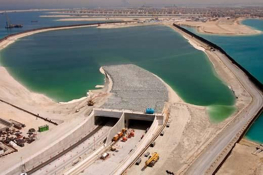 The Palm Jumeirah sub-sea tunnel