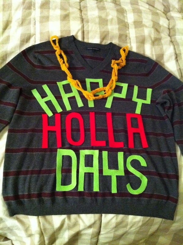hahahaha for all of the tacky sweater parties to come