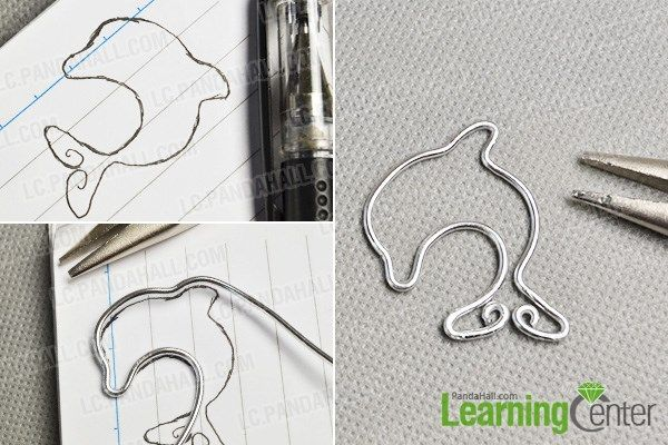 Wrap a wire dolphin