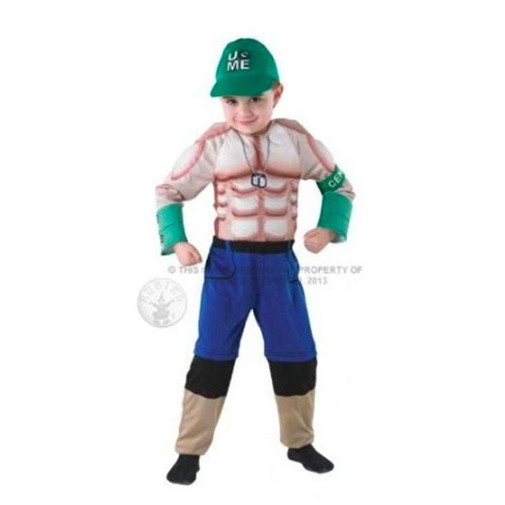 Dexluxe John Cena Childs Large Size Fancy Dress Costume Wwe Wrestling Outfit Hat #Rubies