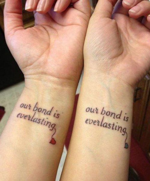9f8c91975 Our Bond is Everlasting-Great Matching Tattoo Ideas | More tattoos ...