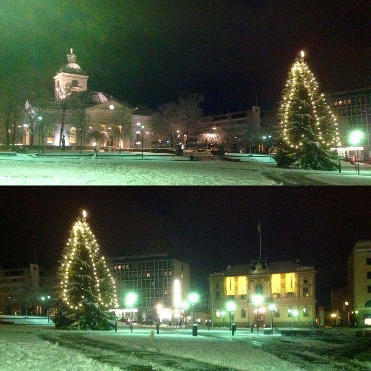 Hämeenlinna, Finland by night 2015