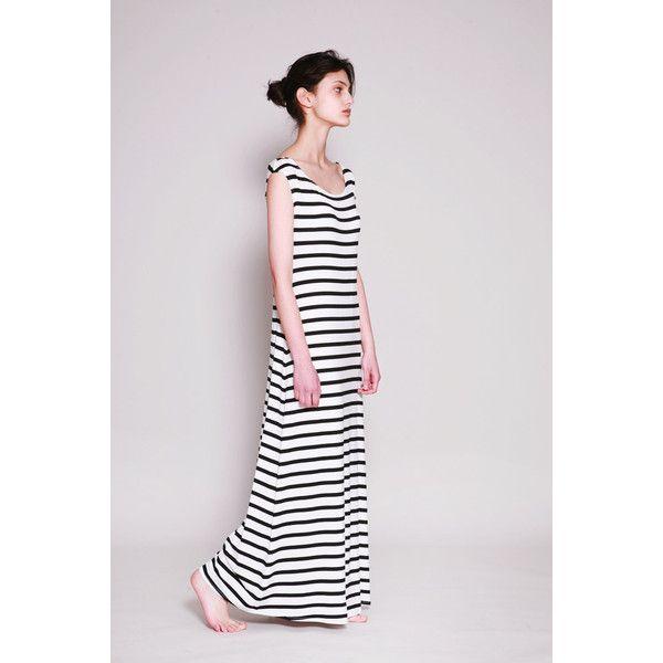 Striped Dress, Black White Stripe Dress, Maxi Dress, Summer Dress,... ($92) ❤ liked on Polyvore featuring dresses, black and white long dress, black and white dresses, sleeveless maxi dress, loose summer dresses and black and white striped dress