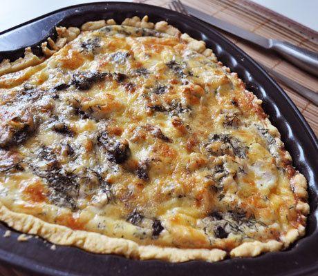 Куриный киш с грибами - пошаговый рецепт с фото: Французский пирог quiche только на первый взгляд кажется блюдом аристократов. На самом деле он произносится как киш... - Леди Mail.Ru