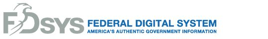 The Government Printing Office's portal offering free online access to official publications from all three branches of the Federal Government.