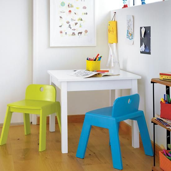 The Land Of Nod Kids Play Table Kids White Corner Play