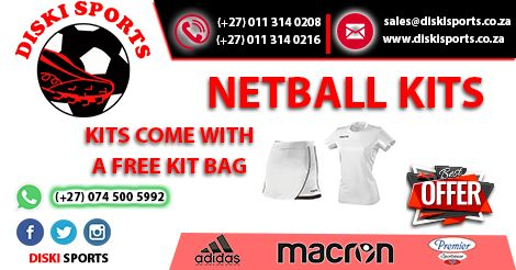 #Netball Kits on #sale, visit www.diskisports.co.za for more.