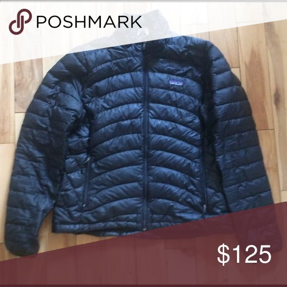Patagonia Sweater Jacket black Patagonia sweater jacket in great condition, comes with lifetime guarantee (thanks Patagonia!) Patagonia Jackets & Coats