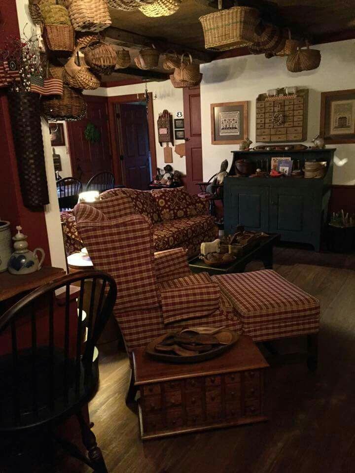 1000 images about the unique black sheep primitive - Primitive country living room ideas ...