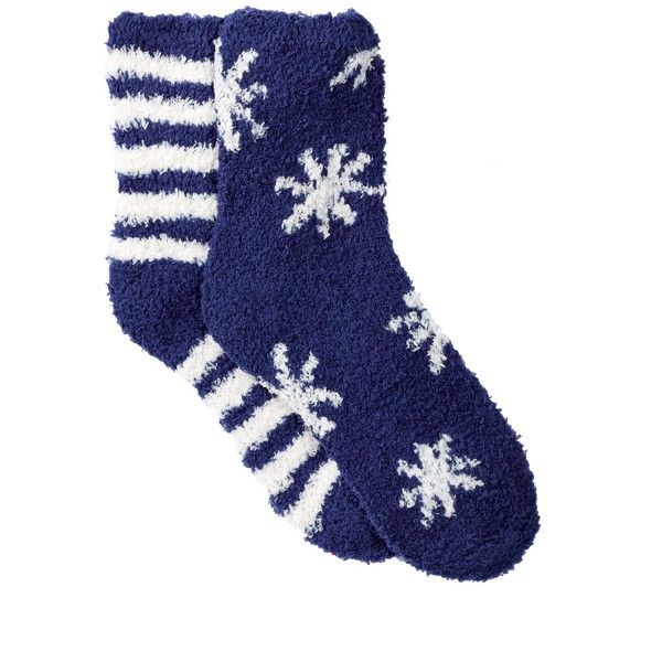 Free Press Pattern Fuzzy Socks - Pack of 2 ($7.97) ❤ liked on Polyvore featuring intimates, hosiery, socks, navy patriot stars, print socks, knit socks, cushioned socks, navy blue socks en fuzzy socks