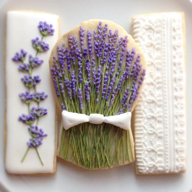 Lavender and lace. #cookies #cookieart #cookiedecorating #decoratedcookies #decoratedsugarcookies #sugarart #edibleart #cookieart