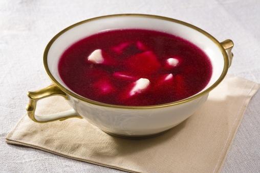 Barszcz czerwony z uszkami  Red beet soup