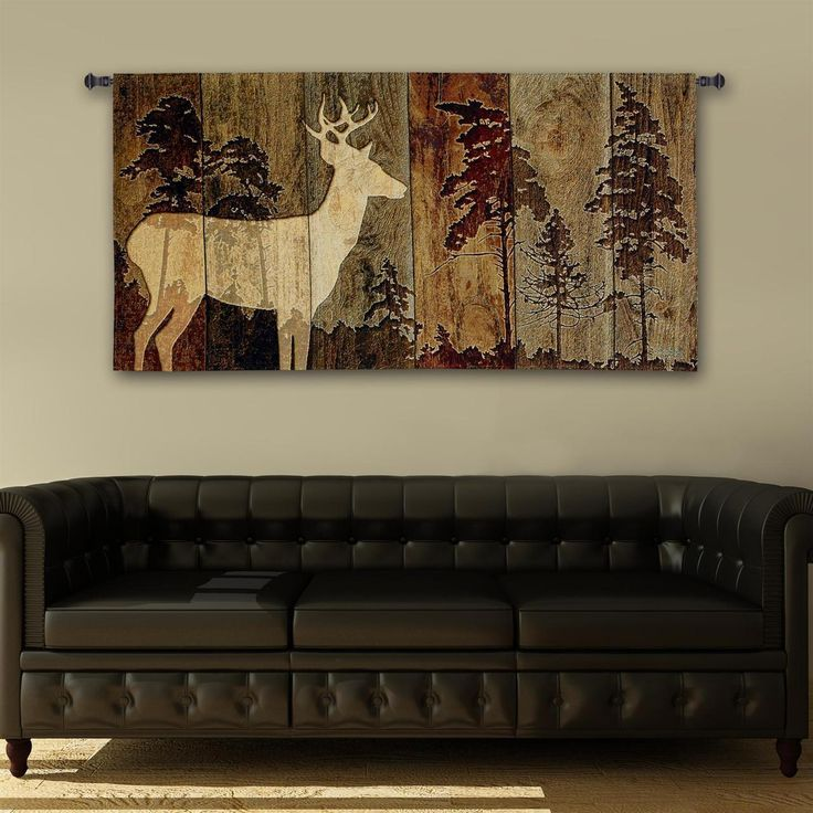 woodburn lodge deer tapestry wall hanging - Lodge Decor