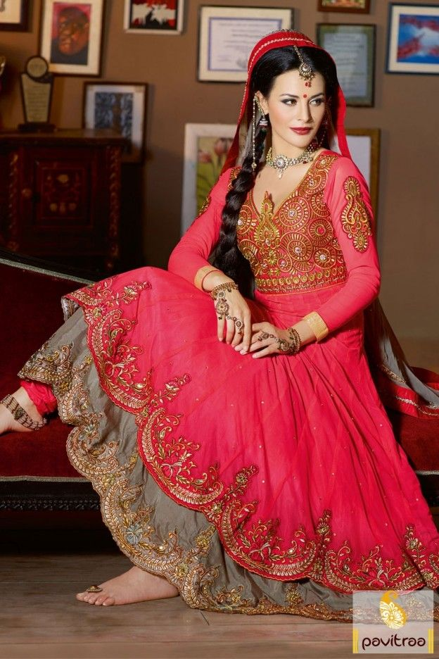 Elegant designer dark pink wedding bridal Anarkali Salwar suit decorated with golden embroidery and stone work with lace patta border work on dupatta. #salwarsuit, #anarkalisalwarsuit more: http://www.pavitraa.in/store/anarkali-salwar-suit/