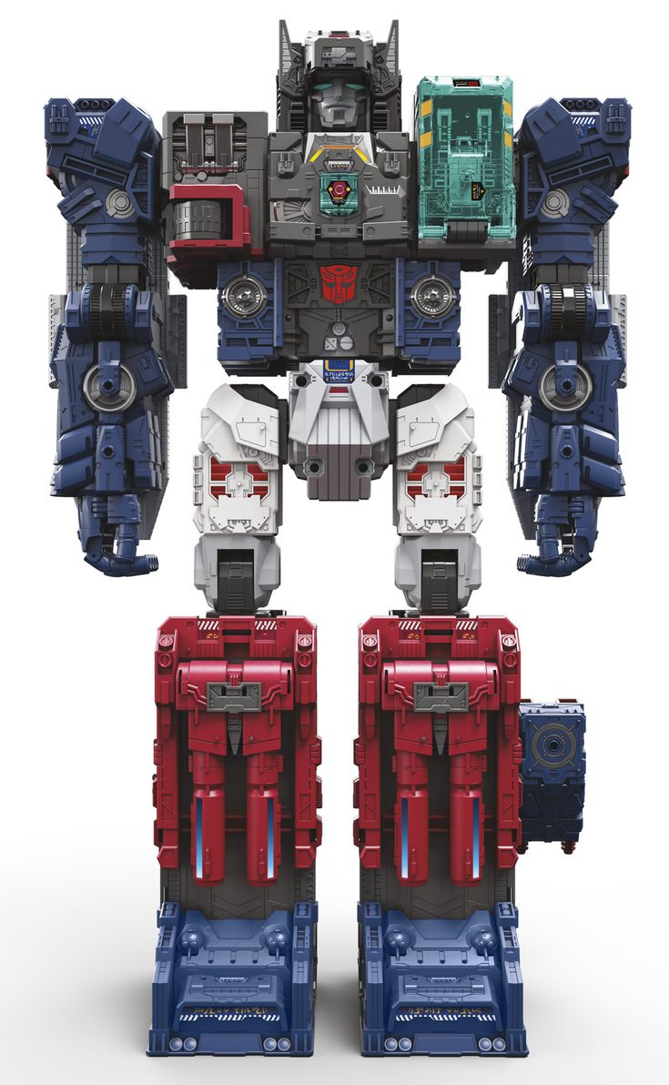 Last, and never by any means least, we have the official renders of Titans Return Fortress Maximus. The gigantic Autobot is set to stand almost two feet tall and feature full light and sound effects. These official images show off all three of Fortress Maximus' modes, as well as his Cerebros headmaster, and the Emissary, Cerebros' headmaster.