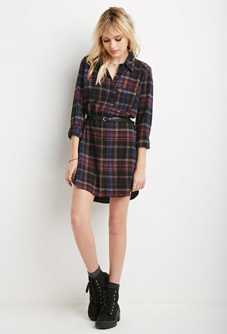 plaid shirt dress forever 21 canada more dresses 2000155351 forever 21 ...