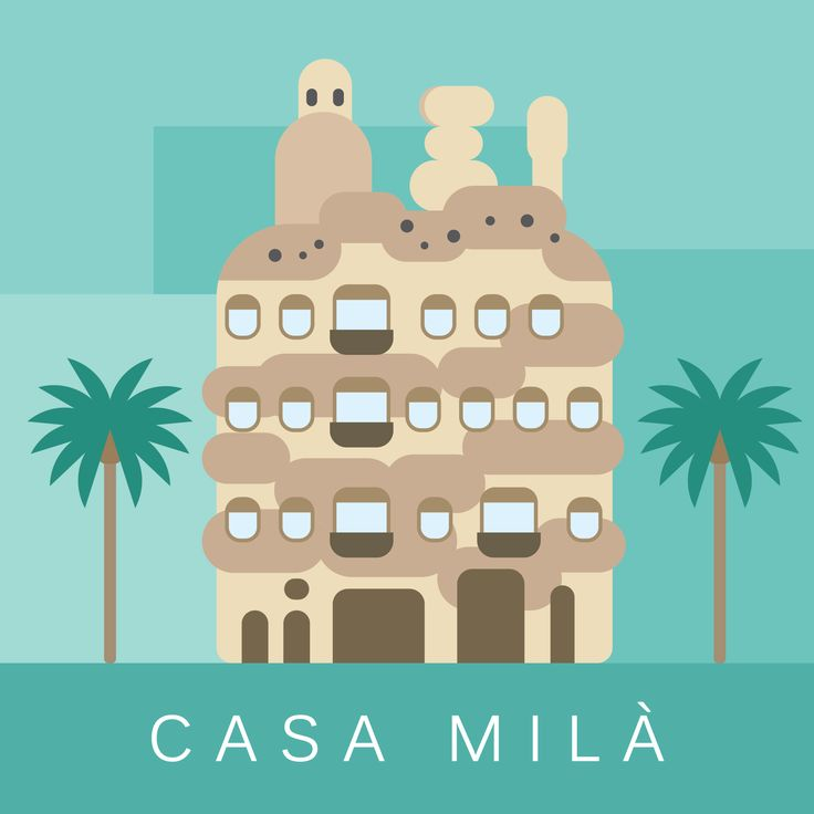 Cities - Barcelona: Casa Mila illustration by cans.