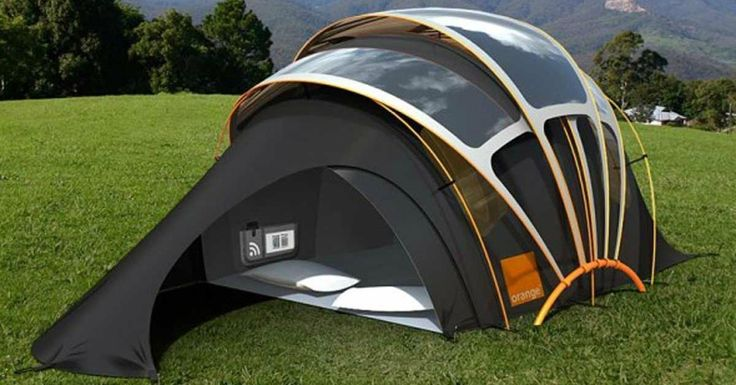 Isn't it about time camping tents got an upgrade?    It seems like tent design has remained the same for a long while now. This design makes up for lost time though. It's called the Orange Solar Tent and it combines the classic small and portable tent aesthetic with solar power capabilities