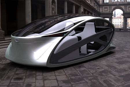 metromorph futuristic concept car - rides up a wall onto your balcony. never look for a parking spot again!