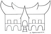 Mewarnai Rumah Adat Minangkabau