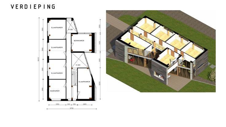 Plattegrond woning verdieping