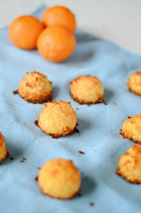 Orange AIP Macaroons - an quick delicious treat! (paleo, AIP, gluten free, grain free, GAPS, low FODMAP, soy free, nut free, refined sugar free)