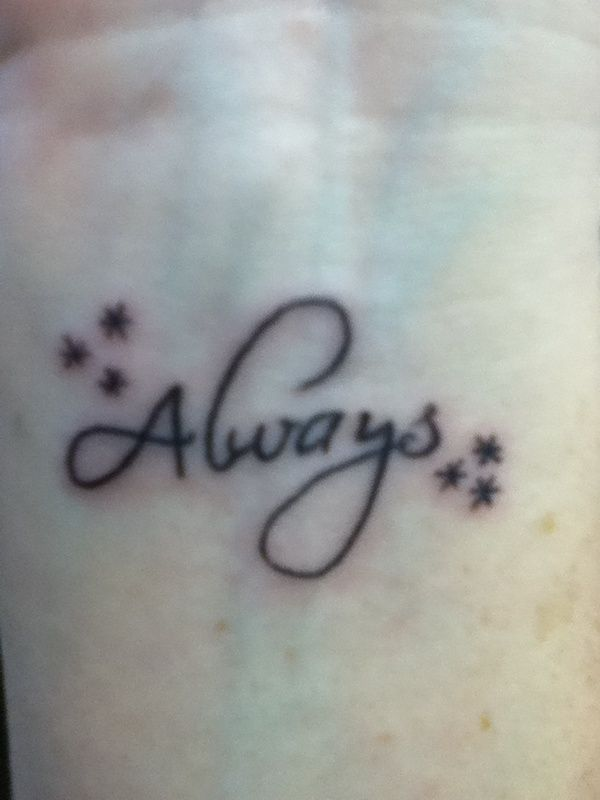 harry potter always tattoo on wrist