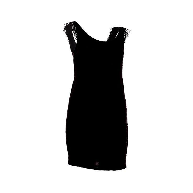 Vestido Flecos, Priscila Corvetto, $25.990. Vestido negro elasticado con flecos, ideal para matrimonios o eventos, te recomiendo usarlo con algún zapato de color fuerte para dar ...
