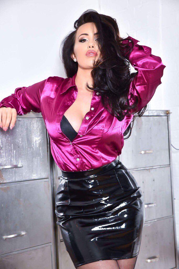 Silk satin blouse fetish