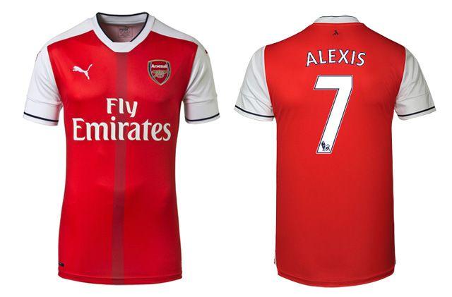 Camisas do Arsenal 2016-2017 Puma Titular kit