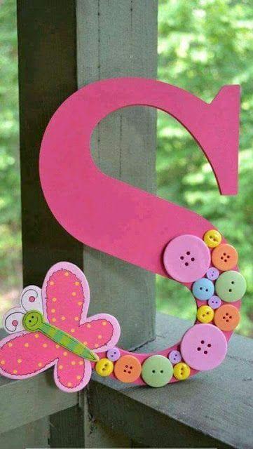 Mi Fiesta Creativa: Letras gigantes para decorar habitaciones de niñas