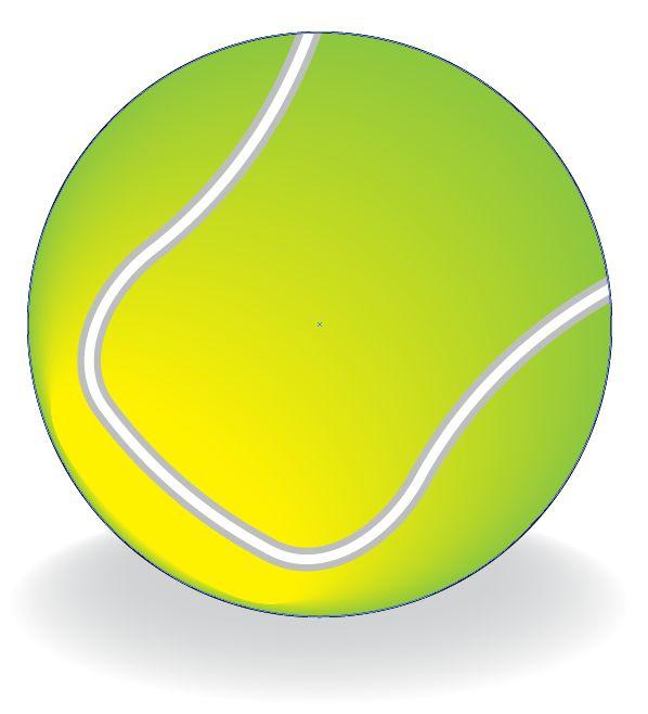 Adobe Illustrator - darmowe tutoriale: Jak narysować piłkę tenisową w Adobe Illustrator
