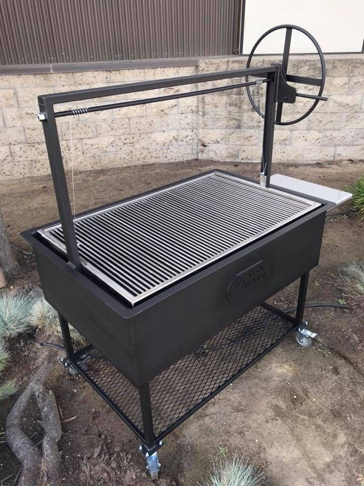 Santa Maria Bbq Grill Pit With Height Adjustable Cooking Grate