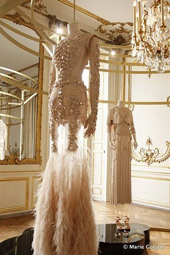 From the Givenchy Paris 2010/2011 couture show - a dream work room. Someday I would like to sew couture gowns at leisure in a Parisian mansion, is that too much to ask for?