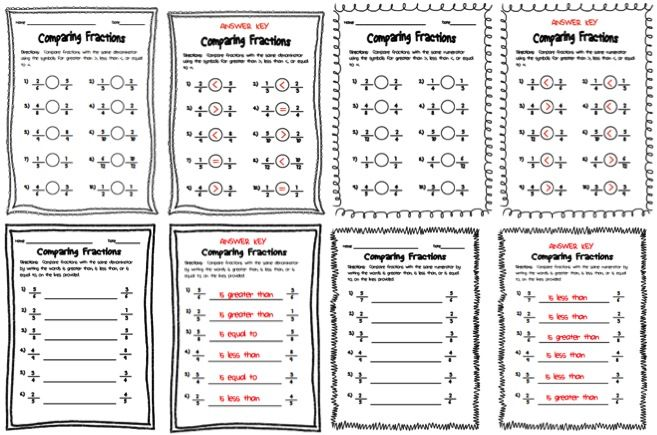 Fractions With Like Denominators Worksheet Davezan – Comparing Fractions with Unlike Denominators Worksheets