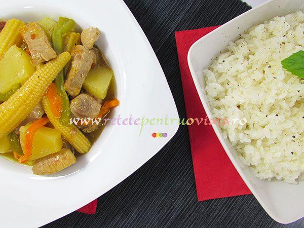 Reteta de mancare chinezeasca cu carne de porc si ananas este simplu de preparat si impresioneaza prin gustul delicios, dulce acrisor.
