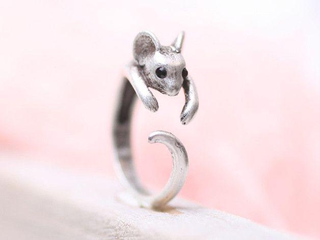 Ringen - Muis Ring ♥ Verstelbaar - Een uniek product van ISTANBLUE op DaWanda