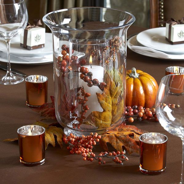 ideas for centerpiece for table images 42 beautiful fall table dcor ideas photo 42 - Fall Decorations For Sale