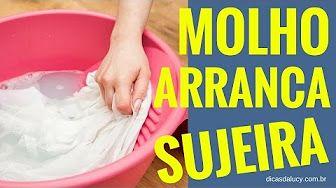 MOLHO DESENCARDE E ARRANCA SUJEIRA DA ROUPA - LAVAR ROUPA ENCARDIDA - Lucy Mizael - YouTube