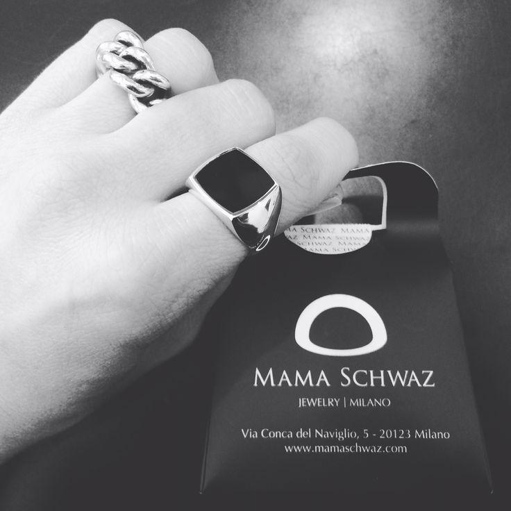 Anello pietra Argento925 By Mama Schwaz