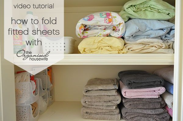 {Video} How to fold bed sheets including the fitted sheet » The Organised Housewife