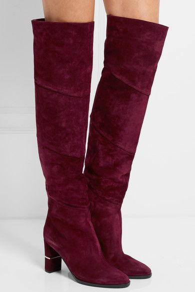 Heel measures approximately 80mm/ 3 inches Burgundy suede Pull on Designer color: Bordeaux Made in Italy