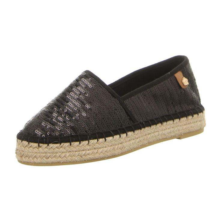 NEU: Tamaris Slipper 1-1-24602-28-019 - black sequins -